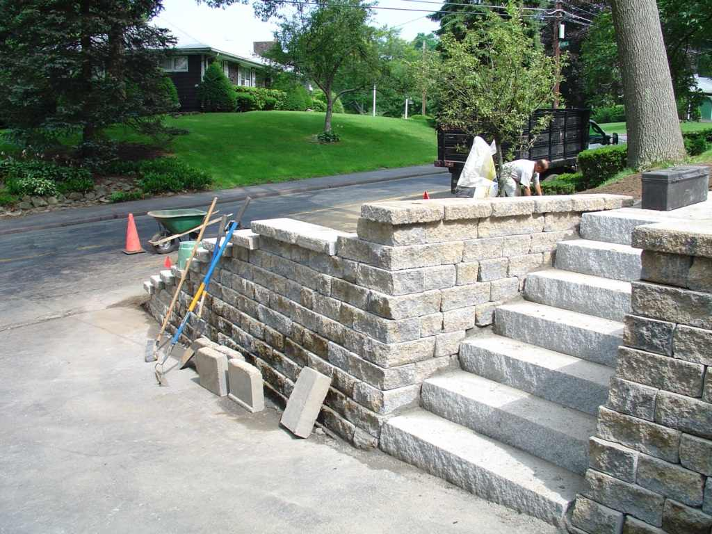 Stone Landscape Projects : Stone wall project photos landscape retaining
